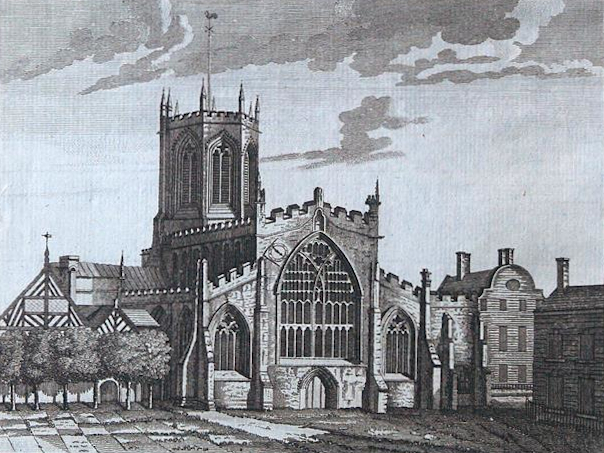 Nantwich Church Engraving – Alexander Hogg, c1786